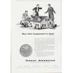 "1959 Great American Insurance Company Ad ""happened to you"""