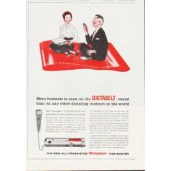 """1959 Dictaphone Ad """"Dictabelt"""""""