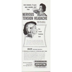 "1959 Anacin Ad ""Nervous Tension Headache"""