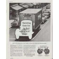 """1961 General Motors Ad """"Look at the savings this Diesel makes"""""""