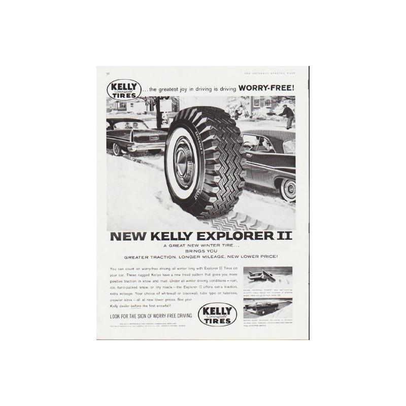 1959 Kelly Tires Vintage Ad