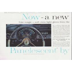"1959 Sylvania Panelescent Ad ""a new kind of light"""