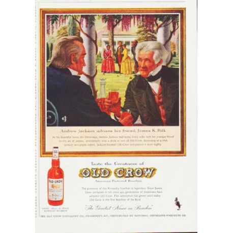 "1959 Old Crow Bourbon Ad ""Andrew Jackson"""