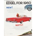 "1960 Edsel Ad ""Edsel for 1960"" ... (model year 1960)"