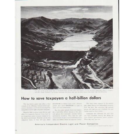 "1959 Electric Light and Power Companies Ad ""a half-billion dollars"""