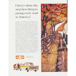 "1960 Chevrolet Ad ""paving every road"" ... (model year 1960)"