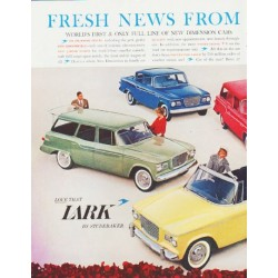 "1960 Studebaker Ad ""Fresh News"" ... (model year 1960)"