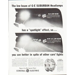 "1959 General Electric Ad ""spotlight effect"""