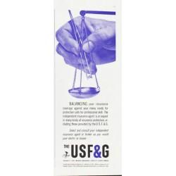 """1959 United States Fidelity & Guaranty Ad """"Balancing"""""""