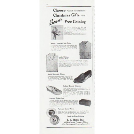 """1959 L. L. Bean Ad """"out of the ordinary"""""""