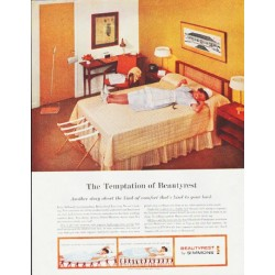 "1959 Beautyrest Ad ""The Temptation of Beautyrest"""