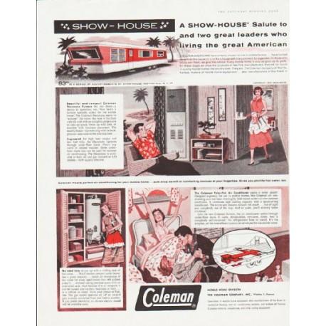 "1959 Coleman Show-House Ad ""A Show-House salute"""