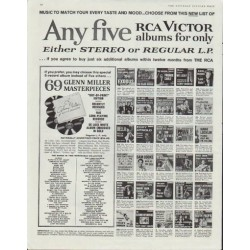 "1961 RCA Victor Ad ""Any five"""