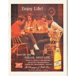 "1964 Miller Beer Ad ""Enjoy Life!"""