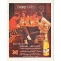 """1964 Miller Beer Ad """"Enjoy Life!"""""""