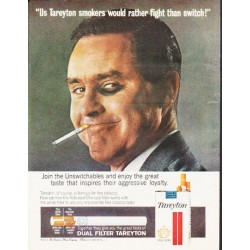 "1964 Tareyton Cigarettes Ad ""would rather fight"""