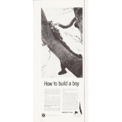"1964 Religion in American Life Ad ""How to build a boy"""