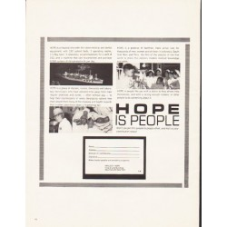 "1964 Hope Hospital Ship Ad ""Hope Is People"""