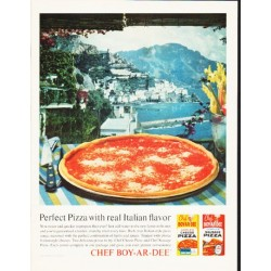 "1964 Chef Boy-Ar-Dee Ad ""Perfect Pizza"""