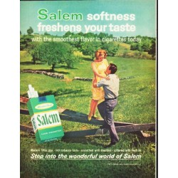 "1964 Salem Cigarettes Ad ""Salem softness"""