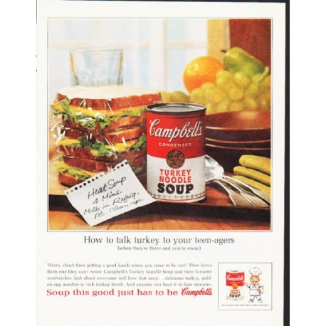 """1964 Campbell's Soup Ad """"How to talk turkey"""""""