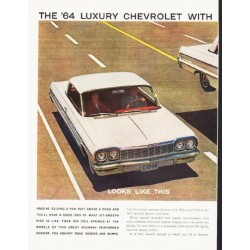 "1964 Chevrolet Impala Ad ""Jet-Smooth Ride"" ... (model year 1964)"