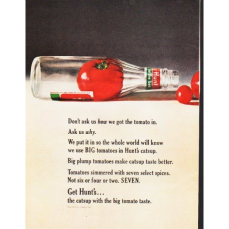 """1964 Hunt's Catsup Ad """"Don't ask us"""""""