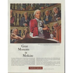 "1961 Parke-Davis Ad ""Great Moments in Medicine"""