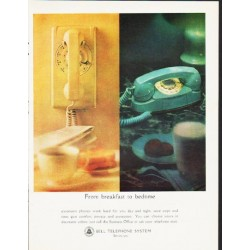 "1964 Bell Telephone System Ad ""From breakfast to bedtime"""