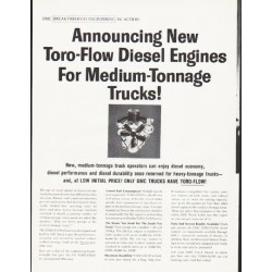 "1964 GMC Trucks Ad ""Toro-Flow Diesel Engines"""