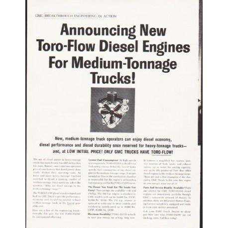 "1964 GMC Trucks Ad ""Toro-Flow Diesel Engines"""