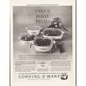 "1964 Corning Ware Ad ""Unique 10-Day Trial"""