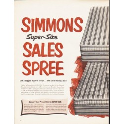 "1964 Simmons Mattress Ad ""Sales Spree"""