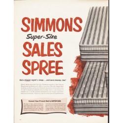 "1964 Simmons Mattress Ad ""Sales Spree"""