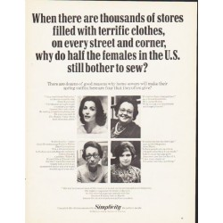 "1964 Simplicity Magazine Ad ""thousands of stores"""