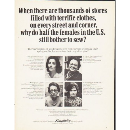 """1964 Simplicity Magazine Ad """"thousands of stores"""""""