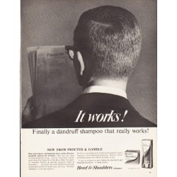 "1964 Head & Shoulders Shampoo Ad ""It works!"""