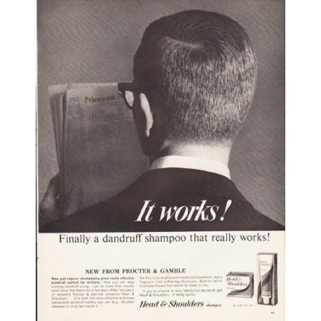 "1964 Head & Shoulders Shampoo Ad ""It works!"""