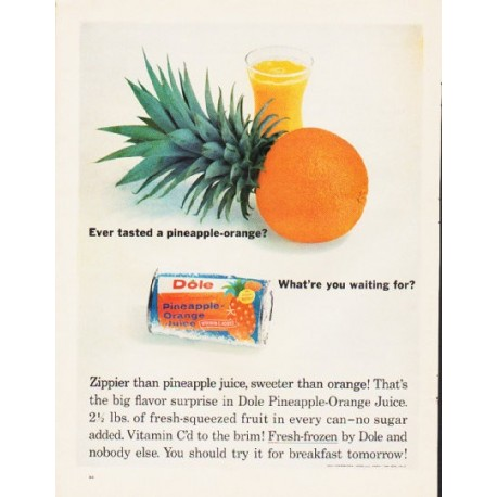 "1964 Dole Ad ""pineapple-orange"""