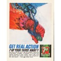 "1964 7-Up Ad ""Get Real Action"""