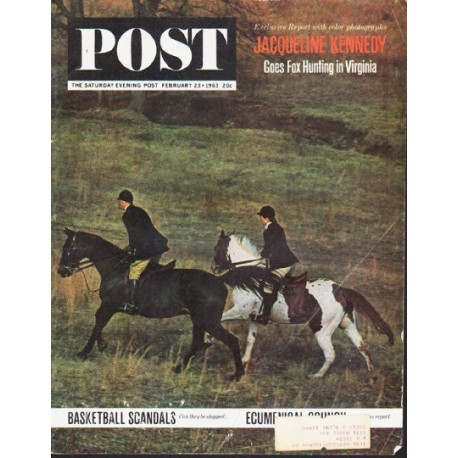 "1963 Saturday Evening Post Cover Page ""Jacqueline Kennedy"" ~ February 23, 1963"
