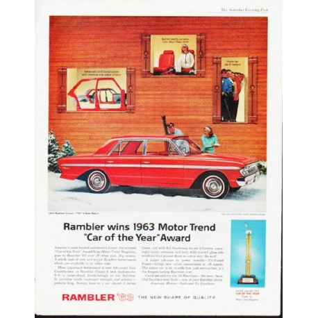 "1963 Rambler Ad ""Car of the Year"" ... (model year 1963)"