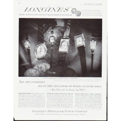 "1963 Longines-Wittnauer Watch Ad ""in the splendor"""