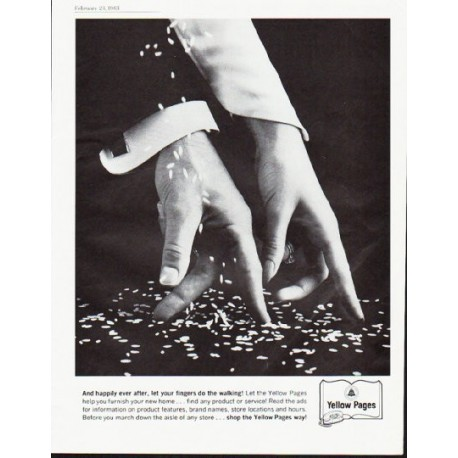 """1963 Yellow Pages Ad """"And happily ever after"""""""