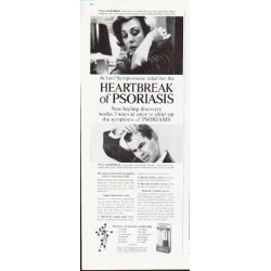 "1963 Tegrin Ad ""Heartbreak of Psoriasis"""