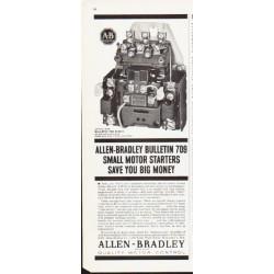 "1963 Allen-Bradley Ad ""Bulletin 709"""