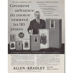"1961 Allen-Bradley Ad ""The New Bulletin 709"""