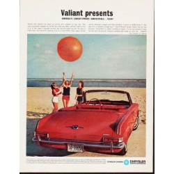 "1963 Chrysler Ad ""Valiant presents"" ... (model year 1963)"