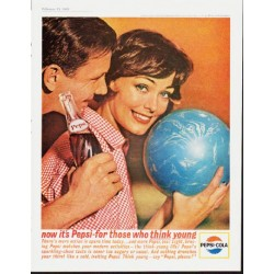"""1963 Pepsi-Cola Ad """"think young"""""""