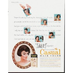 "1963 Toni Hair Color Ad ""I did it"""